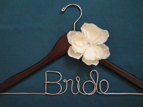 Bride hanger review and giveaway south texas wedding for Bride wedding dress hanger